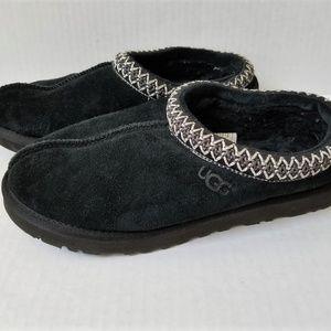 UGG Tasman Suede Slippers BLACK Womens 10